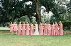 Photography by Virgil Bunao / virgilbunao.com, Pink Bridesmaid dresses by http://amsale.com/
