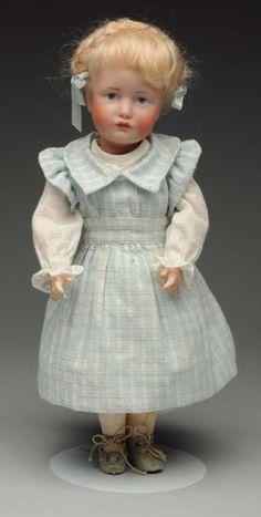 "Splendid 12 inch K & R Character Doll. German bisque socket head incised ""K [star] R 114 30"" by Kammer & Reinhardt"
