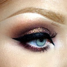 I used: Makeup Geek eyeshadows: Mocha, Creme Brulee, Latte, Burlesque, Twilight Makeup Geek pigment Sweet Dreams my Secret 3D glitter nails 2 Kryolan Glitt