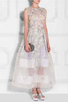 Razan Alazzouni Grey Floral Maxi Dress