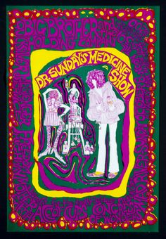 A Benefit for Height and Ashbury Medical Clinic 1967 Oct 8 San Jose Poster Mari Tepper