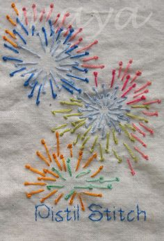 Million Little Stitches: TAST - Pistil stitch and Knotted Cable Chain