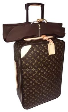 ed0b651b Louis Vuitton Pegase'55 Suitcase Carry On Unisex Browns Natural Color  Canvas Cowhide Leather Weekend