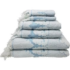 Shop for Nysa 100% Genuine Turkish Cotton Floral Ornament Jacquard Hand-Knotted Fringe 6-Piece Towel Set. Ships To Canada at Overstock.ca - Your Online Bath & Towels Destination!  - 24230384