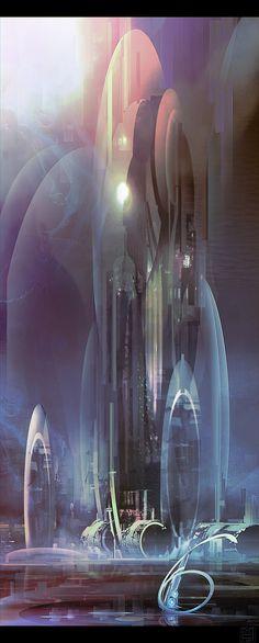 Future City by Nicolas Ferrand                       http://3dtvreviewsnow.com/
