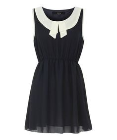 Black & White Sleeveless Dress #zulily #zulilyfinds