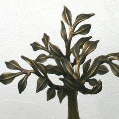 Grabzeichen Lebensbaum Bronze Bronze, Plants, Stencils, Metal, Plant, Planets