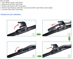 How To Install A Wiperblades 1 Take Off The Original Wiper Blades 2 Open The Hook Of The Wiper Blade 3 Fit Th Wiper Blades Manufacturing Installation