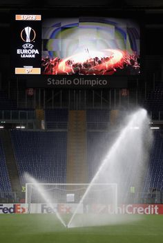A general view of Olimpico Stadium before the UEFA Europa League match between AS Roma and FC Astra Giurgiu at Olimpico Stadium on September 29, 2016 in Rome.
