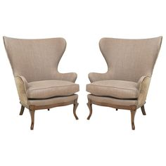 Butterfly wingback chairs
