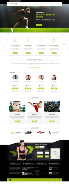 #Fitness Zone #Wordpress theme muscled for modern trend, gyms, sport club or fitness centre and personal trainers! Fully responsive layout that looks great on mobile and tablet devices. With inbuilt drag and drop page builder you can make the website creation a whole lot easier.