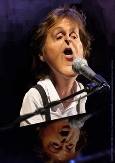 Caricature de Paul McCartney par Julien Gauthier