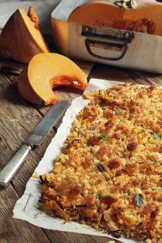 Crumble di zucca al forno Best Italian Recipes, Great Recipes, Favorite Recipes, Easy Cooking, Cooking Time, Cooking Recipes, Vegetable Recipes, Vegetarian Recipes, Healthy Recipes