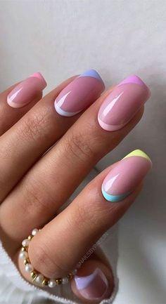 Classy Acrylic Nails, Cute Gel Nails, Short Gel Nails, Acrylic Nails Coffin Short, Chic Nails, Classy Nails, Best Acrylic Nails, Stylish Nails, Trendy Nails