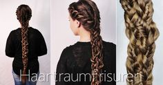 Full view of the five strand braid with fishtail and rope braids