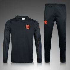 d4a131e92d23b Chándal Manchester United 2016-2017 Negro Sweater Outfits