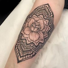 50 of the most beautiful mandala tattoo designs for your body & soul. Mandala Tattoo Design, Mandala Arm Tattoo, Tattoo Designs, Pretty Tattoos, Love Tattoos, Tatoos, Mandela Tattoo, Arm Tats, Black White Tattoos