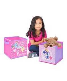 Love this My Little Pony Storage Cubes - Set of 2 by My Little Pony on #zulily! #zulilyfinds