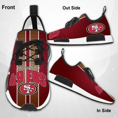 SAN FRANCISCO 49ERS NFL SF NINERS DRACO RUNNING SHOES NEW FASHION   #sport,#running,#shoes,#new