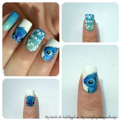 TheNailGuru (thenailguru,stitch,lilo and stitch,disney,nails,nail art) If I wore this, boy, I would laugh all day long. Great idea. The Incensewoman