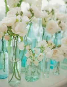 Glass Bottle Bouqets | Summer Entertaining