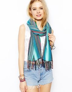 Image 1 of ASOS Geo-Tribal Woven Scarf