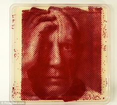 Portraits of famous faces created in petri dishes by artist using bacteria   Daily Mail Online Dna Art, Famous Portraits, Painting Portraits, Petri Dish, Powerful Art, Saatchi Gallery, Create Image, Science Art, Science Projects