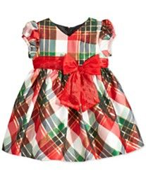 Bonnie Baby Baby Girls' Plaid Taffeta Party Dress