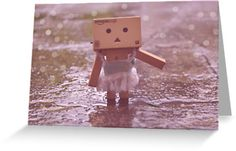 Danbo dancing in the rain by Elinor Barnes #danbo   For sale at redbubble! Follow the link! Thanks for looking :))