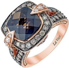 Le Vian Chocolatier Le Vian 14ct Strawberry Gold Chocolate Quartz & diamond ring