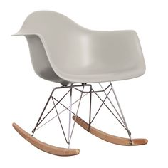 Charles Ray Eames Style RAR Rocking Chair - Cool Grey