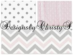Hey, I found this really awesome Etsy listing at https://www.etsy.com/listing/173098705/light-pink-gray-chevron-and-gray-dot