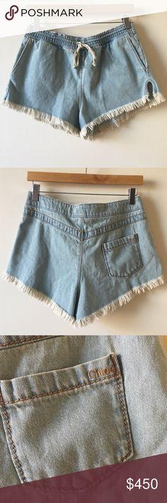 Chloe bleached denim frayed shorts Chloe bleached denim frayed shorts. Perfect for a #festival like #coachella great condition...like new! Open to offers Chloe Shorts Jean Shorts