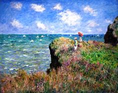 The Cliff Walk, Pourville by Claude Monet - Oil Painting Reproductions Starting at $119.00 OilPaintings.com #art