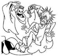 scooby doo coloring pages bing images