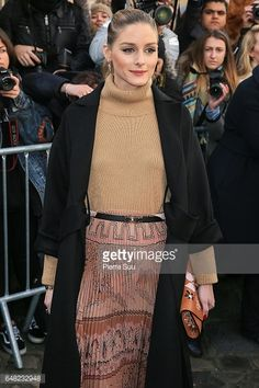 Olivia Palermo arrives at the Valentino show as part of the Paris Fashion Week Womenswear Fall/Winter 2017/2018 on on March 5 2017 in Paris France