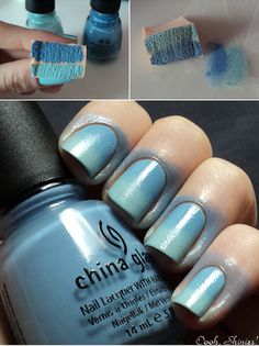 How To: Nail Sponging  NOW I KNOW HOW TO DO GRADIENT!! YESSS