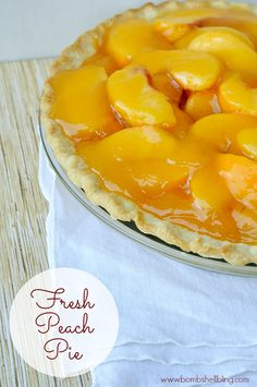 This fresh peach pie is simple to make and DELICIOUS!!!
