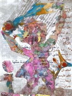 "@MoodMansour  ""وأحياناً أرسم  فتاة وحيدة مثلي على الحائط .. ثمّ أخاف أن أشعر بالوحدة مثلها  .. فأرسم بجانبها فراشة .. ثمّ أخاف أن تطير فأرسم أربعة جدران #maha_masoud #tweet_art_journal #ipad  #photo #mixmedia #collage #at_maha_masoud_art_page http://www.facebook.com/mahalight1969"