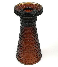 """OIVA TOIKKA - Candleholder/vase """"Kastehelmi"""" 6426 for Nuutajärvi/Iittala, in production 1964-1988, Finland."""