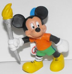 Mickey Mouse with Olympic Torch Figurine