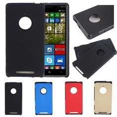 Hybrid TPU Plastic Shockproof Matte Heavy Duty Armor Hard Cover Case For Nokia Lumia 830 Cover Protective Cases Shell