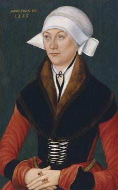 1525 Anonymous German Artist (School of Lucas Cranach the elder). Portrait of a Woman aged Twenty-six.