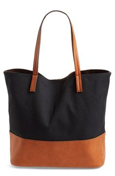 Free shipping and returns on Street Level Canvas Tote at Nordstrom.com. Pack up all your everyday essentials in a chic canvas tote with cool faux-leather details and a supersoft interior.