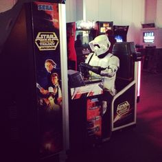 Even Stormtroopers love Star Wars Arcade!