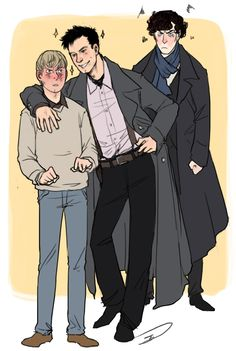 Captain Jack Harkness (Torchwood) hitting on John and Sherlock getting jealous by reapersun