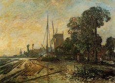 Johan Jongkind - Windmill near the Water