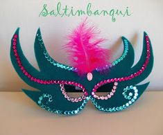Mardi Gras Mask Template, Masquerade Mask Template, Masquerade Masks, Cool Paper Crafts, Diy And Crafts, Crafts For Kids, Carnival Crafts, Carnival Masks, Diy Mask