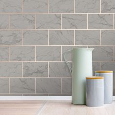 Crown Metro Brick Marble Effect Charcoal Metallic Wallpaper - Kitchen And Bathroom Wallpaper, Bathroom Wallpaper Trends, Tile Wallpaper, Paper Wallpaper, Kitchen Tile, Grey Copper Wallpaper, Charcoal Wallpaper, Metallic Wallpaper, Grey Marble Tile