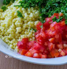 preparare salata tabouleh Cooking Recipes, Vegan, Ethnic Recipes, Food, Salads, Chef Recipes, Essen, Meals, Eten